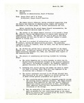 Suggestions from Faculty and Committee on Administration 1969