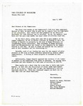 Letter from the Human Relation Commission 1972