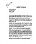 Letter from Campus Council 1996