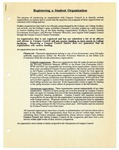 Registering a Student Organization 1995