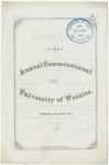 Commencement 1871 The College of Wooster