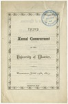 Commencement 1873 The College of Wooster