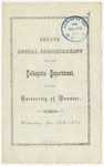 Commencement 1874 The College of Wooster