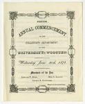 Commencement 1875 The College of Wooster