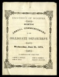 Sixth Annual Commencement of the Collegiate Department