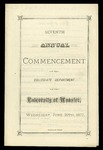 Seventh Annual Commencement of the Collegiate Department of The University of Wooster