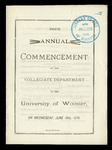 Eighth Annual Commencement of the Collegiate Department of The University of Wooster