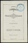 Commencement 1879 The College of Wooster