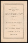 Commencement 1880 The College of Wooster