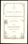 Commencement 1881 The College of Wooster