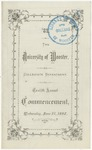 Commencement 1882 The College of Wooster