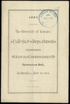 Commencement 1884 The College of Wooster