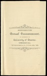 Commencement 1886 The College of Wooster