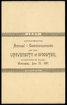Commencement 1887 The College of Wooster