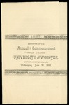 Commencement 1888 The College of Wooster