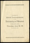 Commencement 1889 The College of Wooster