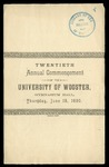 Twentieth Annual Commencement of the University of Wooster
