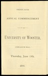 Commencement 1895 The College of Wooster