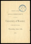Twenty-Sixth Annual Commencement of the University of Wooster