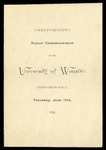 Commencement 1897 The College of Wooster