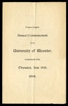 Commencement 1898 The College of Wooster