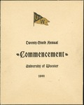 Schedule of Events 1899