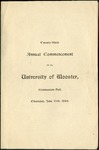 Commencement 1899 The College of Wooster