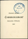 Thirtieth Annual Commencement of the University of Wooster