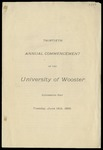 Commencement 1900 The College of Wooster