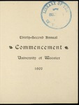 Thirty-Second Annual Commencement the University of Wooster