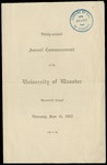 Commencement 1902 The College of Wooster