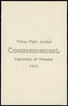 Thirty-Third Annual Commencement University of Wooster
