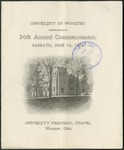 University of Wooster 34th Annual Commencement