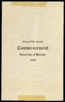 Schedule of Events 1905