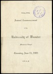 Commencement 1905 The College of Wooster
