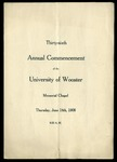 Thirty-Sixth Annual Commencement of the University of Wooster