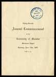 Thirty-Seventh Annual Commencement of the University of Wooster