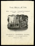 The Bulletin: 38th Annual Commencement
