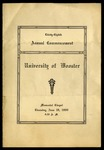 Thirty-Eighth Annual Commencement University of Wooster