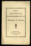 Thirty-Ninth Annual Commecement University of Wooster