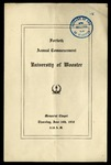 Commencement 1910 The College of Wooster