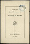 Commencement 1911 The College of Wooster
