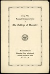 Commencement 1915 The College of Wooster