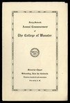 Commencement 1917 The College of Wooster