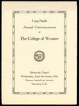 Commencement 1919 The College of Wooster