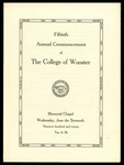 Commencement 1920 The College of Wooster