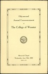 Fifty-second Annual Commencement of The College of Wooster