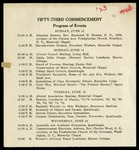 Fifty-Third Commencement Program of Events