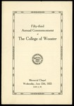 Fifty-third Annual Commencement of The College of Wooster