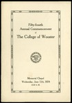 Fifty-fourth Annual Commencement of The College of Wooster